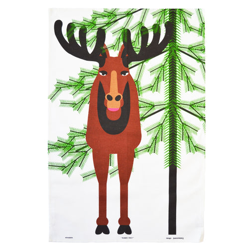 CHRISTMAS MOOSE TEA TOWEL