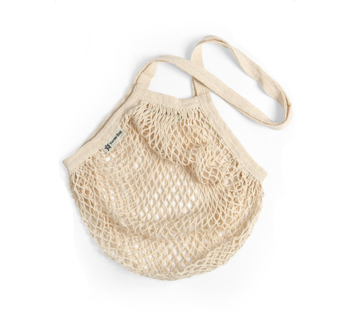 Long Handled Organic Cotton String Bag - Natural