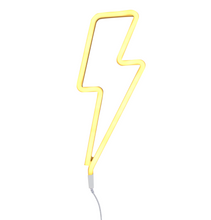 Load image into Gallery viewer, Neon Lightning Bolt Light - Yellow