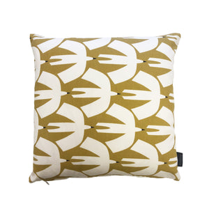 PAJARO CUSHION/COVER - MUSTARD