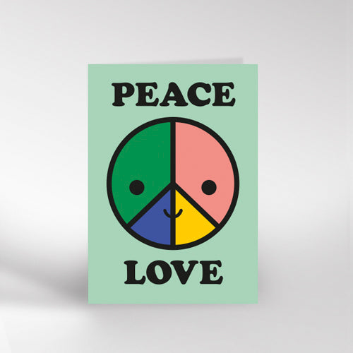 Peace & Love Greetings Card