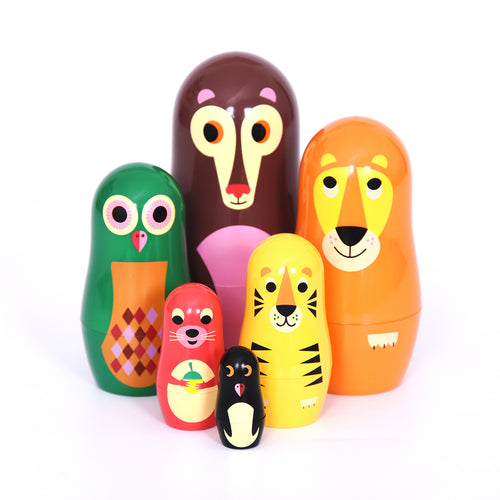 Animals nesting dolls