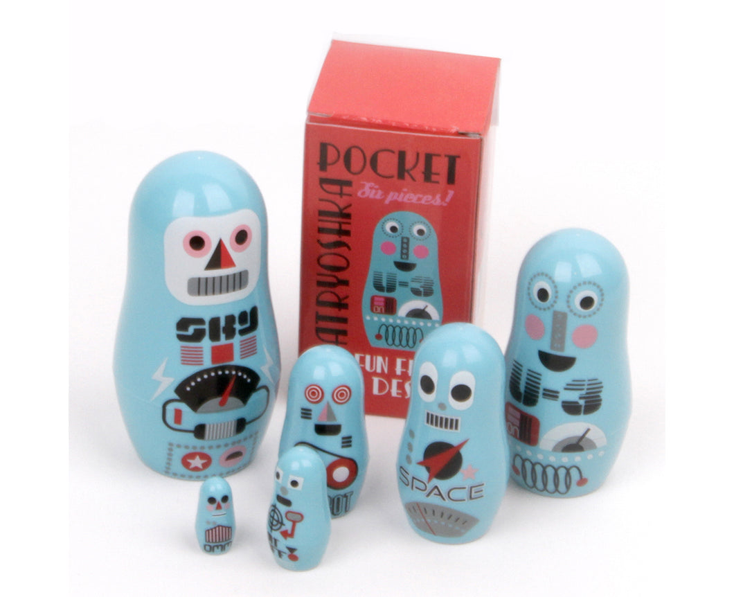Pocket Robots nesting dolls
