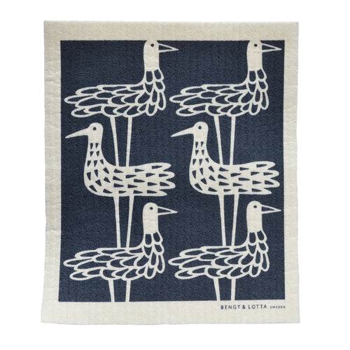 Shore Birds Swedish Dishcloth