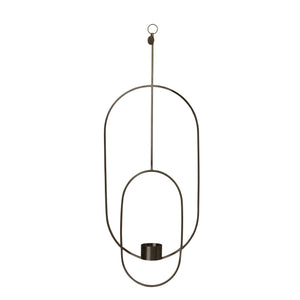 Black Deco hanging tealight holder