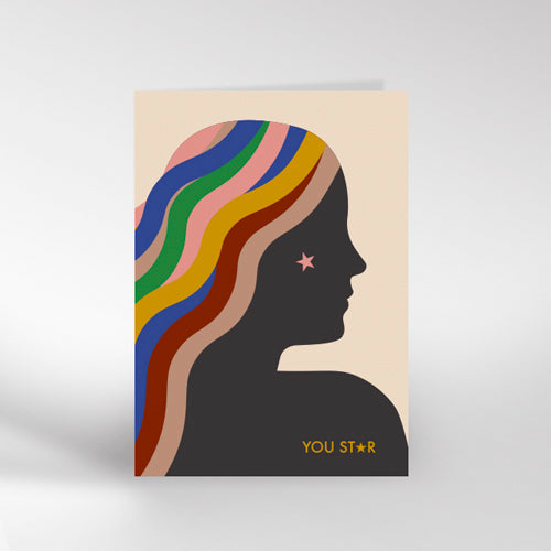 You Star Greetings Card