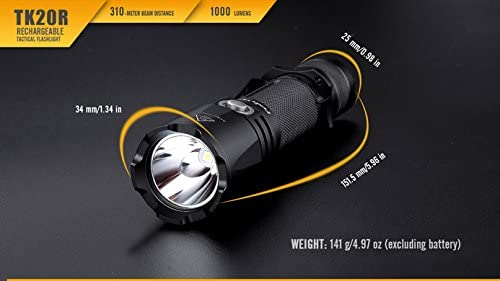 Fenix Flashlights TK20R LED Flashlight with Battery