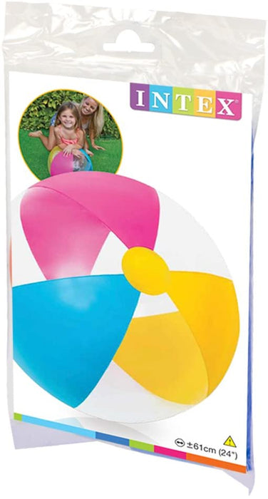 "Intex 24"" Inflatable Paradise Panel Colorful Beach Ball - (Set of 2) 