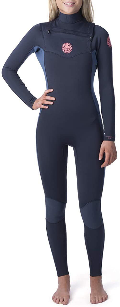 Rip Curl Dawn Patrol Wetsuit | Women's Neoprene Full Suit Chest Zip Wetsuit for Surfing, Watersports, Swimming, Snorkeling | Designed for Durability | 3/2mm