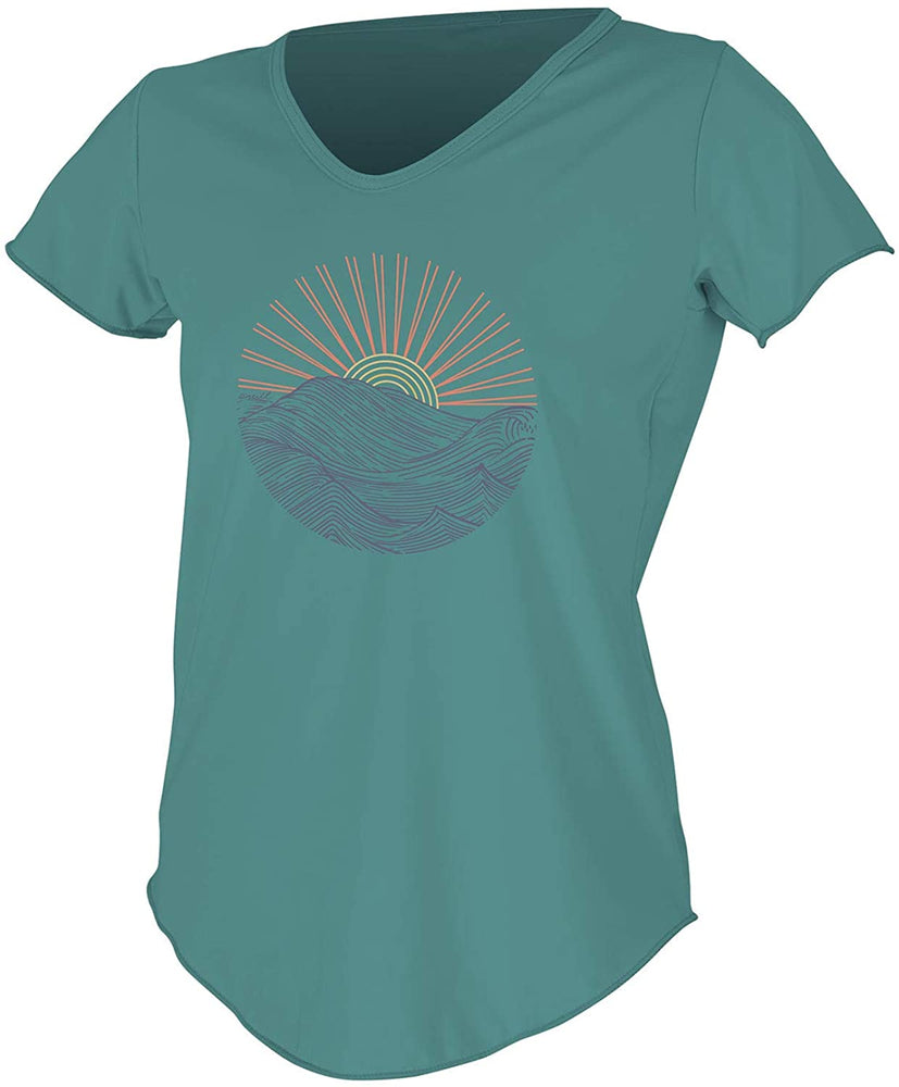 O'Neill Women's Shortsleeve Graphic Scoop Neck Sun Shirt
