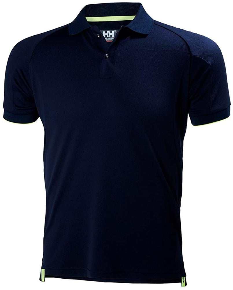 Helly-Hansen Men's HP Ocean Short Sleeve Polo, Navy, XX-Large