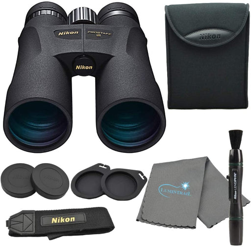 Nikon 7573 PROSTAFF 5 12X50mm Binoculars Bundle with Nikon Lens Pen and Lumintrail Cleaning Cloth