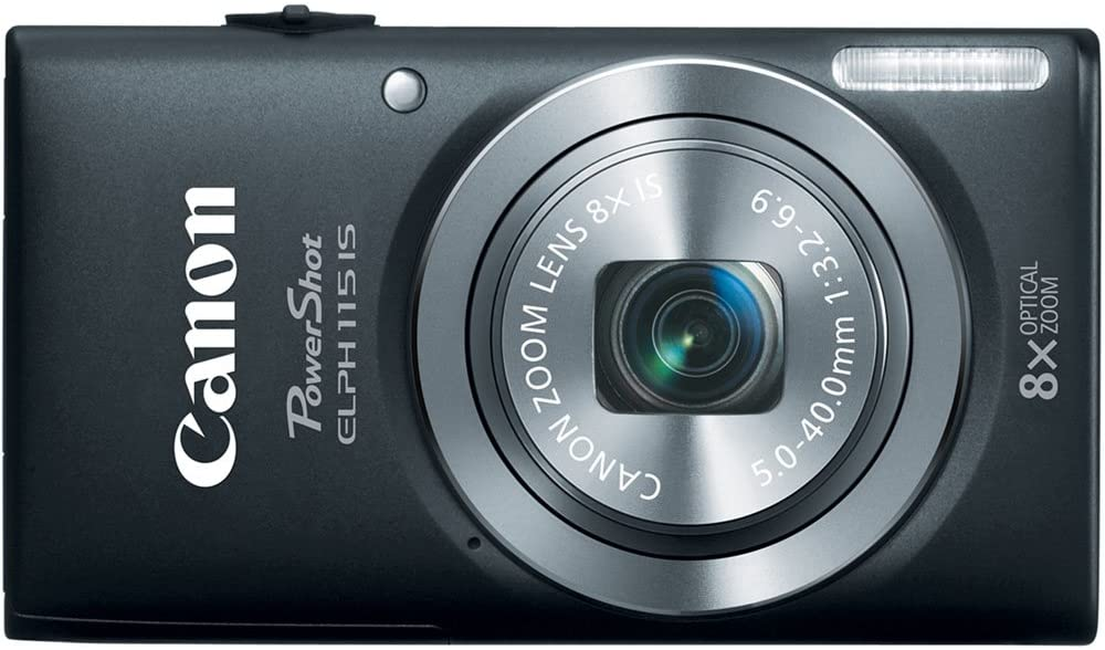 Canon PowerShot Elph 115 16MP Digital Camera with 2.7-Inch LCD (Black) (OLD MODEL)