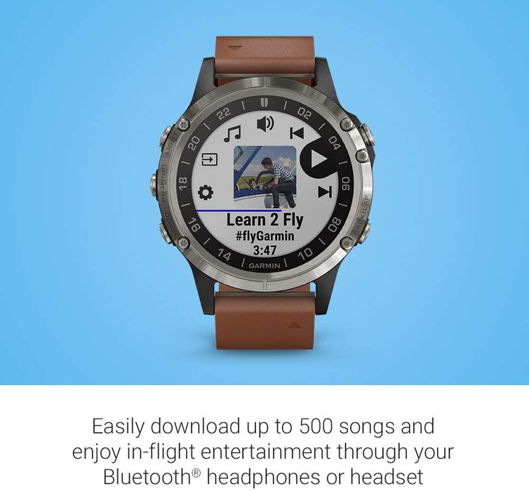 Garmin D2 Delta, GPS Pilot Watch, Includes Smartwatch Features, Heart Rate and Music