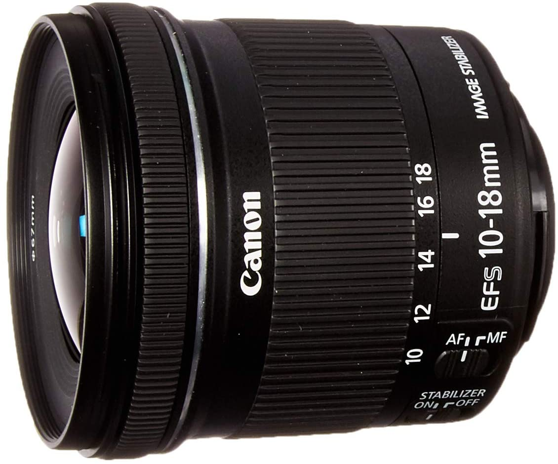 Canon EF-S 10-18mm f/4.5-5.6 is STM Lens for Canon DSLR Cameras (US Model)