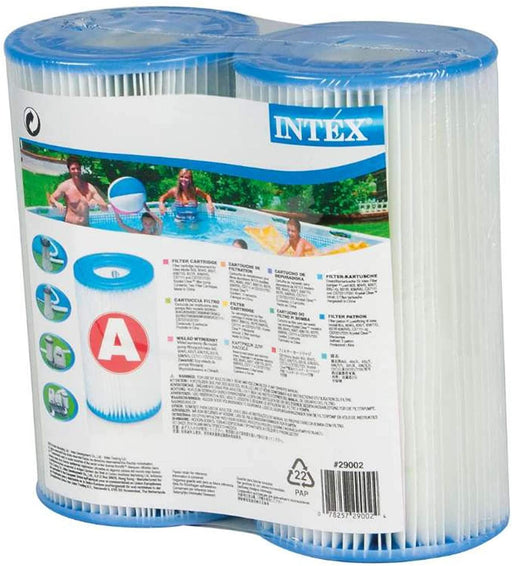 Intex 0775431 Filter Cartridge for Swimming Pool Blue 10,8 x 21,6 x 20,3 cm - Set of 2