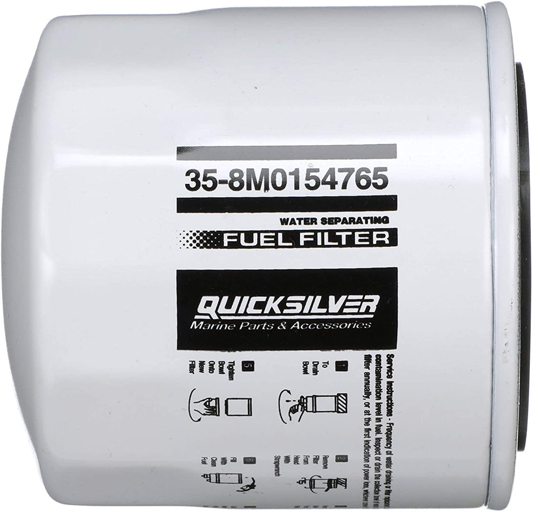 Quicksilver 8M0154765 Water Separating Fuel Filter - Sierra, GLM, Mallory, Fram, WIX