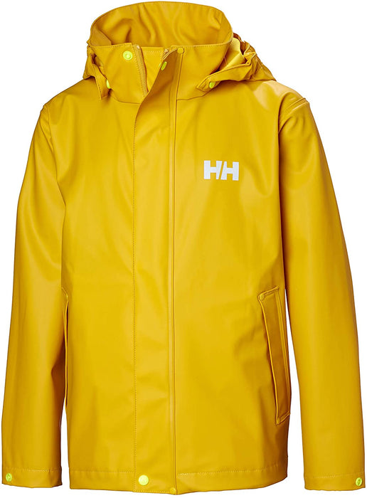 Helly-Hansen unisex-child Moss Classic Rain Coat Jacket With Full Rain Protection