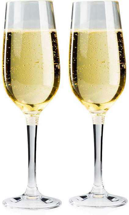GSI Outdoors 79332 Packable Champagne Flute Set, Clear