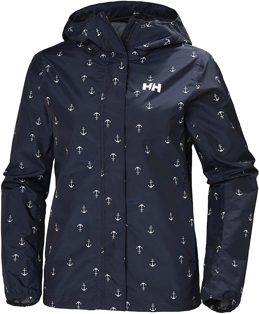Helly-Hansen womens Bray Lightweight Hooded Waterproof Windproof Breathable Print Shell Rain Coat Jacket