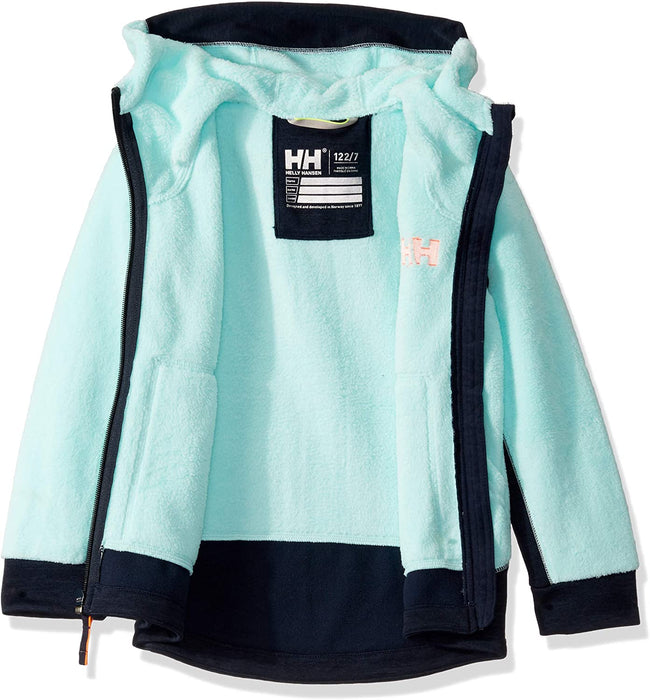 Helly-Hansen boys Chill Hooded Lightweight Full-zip Warm Pile Jacket Coat