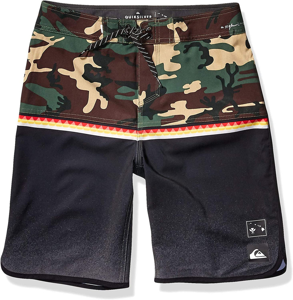 Quiksilver Boys' Big Highline Divide Vrble Youth 18 Boardshort Swim Trunk