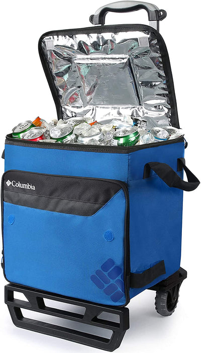 Columbia Crater Peak 50 Can Rolling Thermal Pack with All Terrain Cart, 80 lb. Capacity