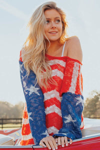 BORN IN THE USA SWEATER TOP - LULUKISS Boutique