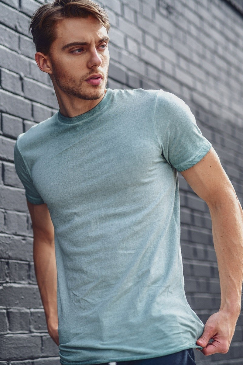 ENVY DUSTY BLUE MENS TEE - LULUKISS Boutique