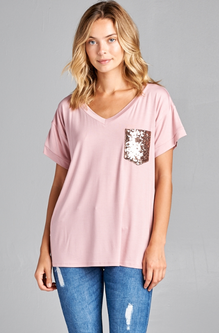 GLITTER ROSE TEE - LULUKISS Boutique