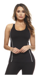 SHOW MY CURVES - BLACK WORKOUT TOP - Lulu Kiss