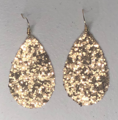 GOLD GLITTER EARRINGS - Lulu Kiss