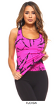 ENERGIZE ME - TIE DIE WORKOUT TOP - Lulu Kiss