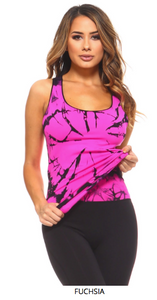 ENERGIZE ME - TIE DIE WORKOUT TOP - LULUKISS Boutique