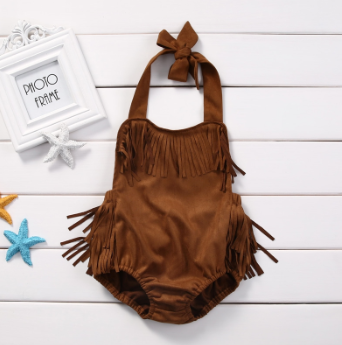 LITTLE POCAHONTAS BABY ROMPER - LULUKISS Boutique