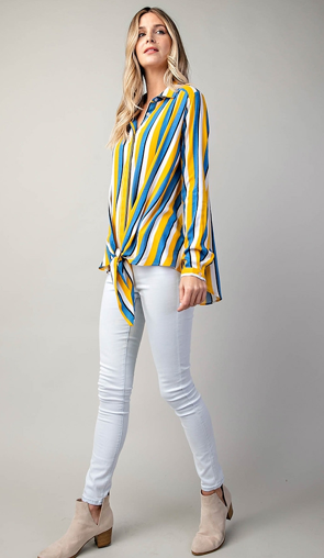 SUNSHINE & A SMILE SILKY TOP - Lulu Kiss