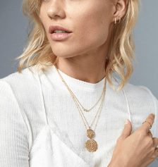 GORJANA - COMPASS COIN NECKLACE - Lulu Kiss