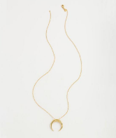 GORJANA - CAYNE CRESCENT PENDANT NECKLACE - Lulu Kiss