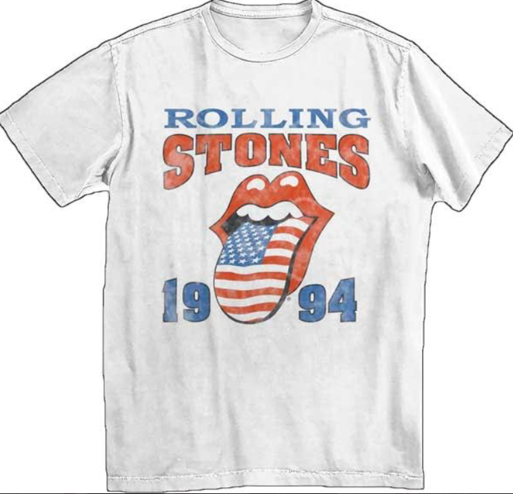 ROLLING STONES OFFICIAL VINTAGE ROCK BAND CONCERT T-SHIRT - Lulu Kiss