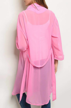 LOVER PINK JACKET DRESS TOP - Lulu Kiss