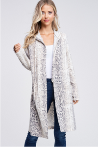 DANIELLE SNAKE PRINT CARDIGAN - LULUKISS Boutique