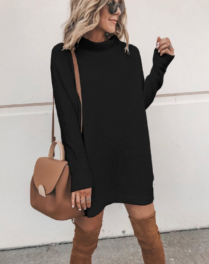 BLACK SHIRT DRESS - Lulu Kiss