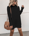 BLACK SHIRT DRESS - LULUKISS Boutique