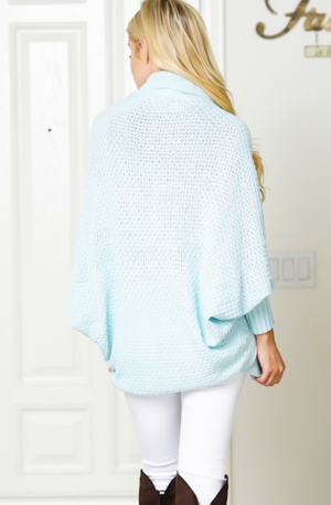 BABY BLUE SOFT SHORT CARDIGAN SWEATER - Lulu Kiss