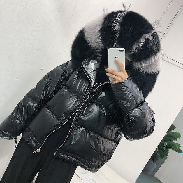Fur Coat Natural Fox Fur Collar 2019 Winter Jacket Women Loose Short Down Coat White Duck Down Jacket Thick Warm Down Parka - Lulu Kiss