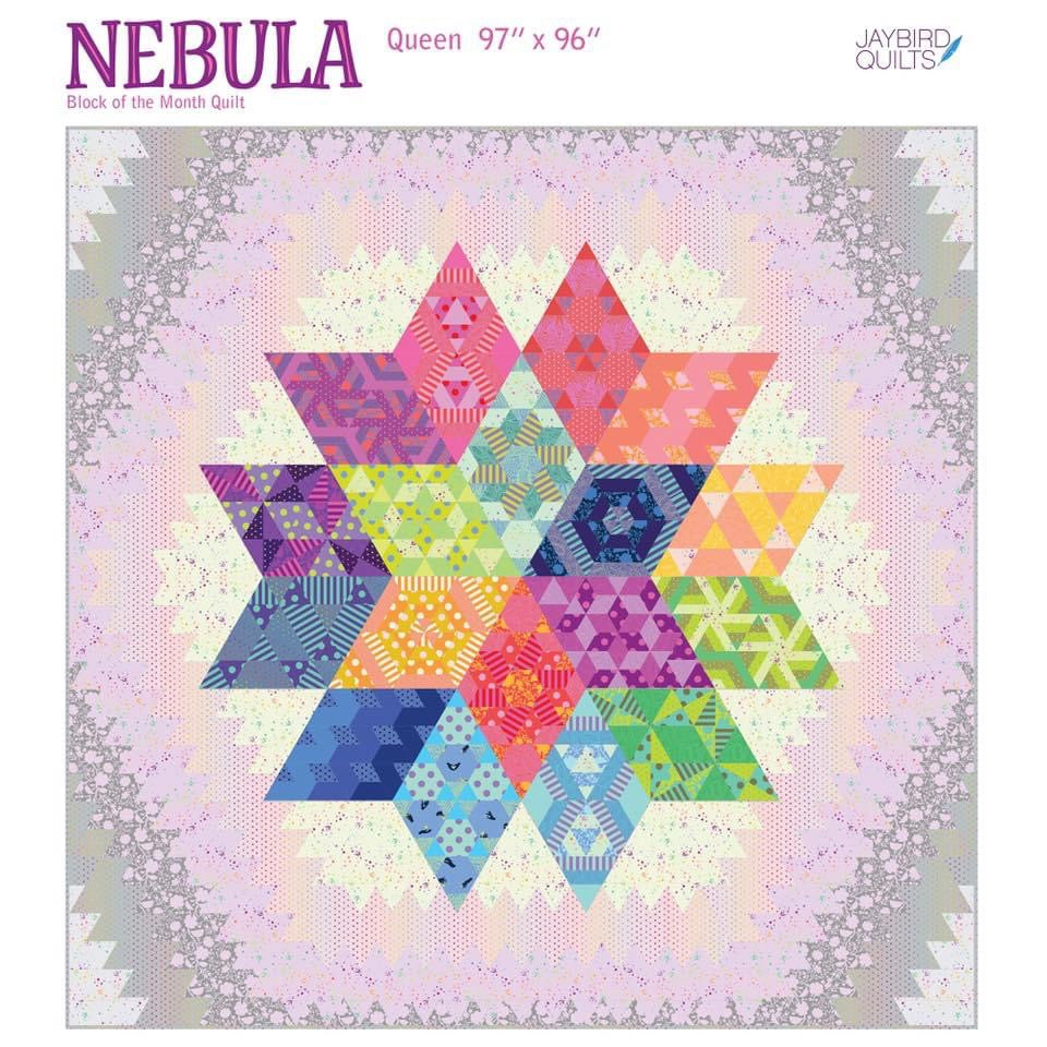 Nebula - By Jaybird Quilts with Tula Pink Fabric