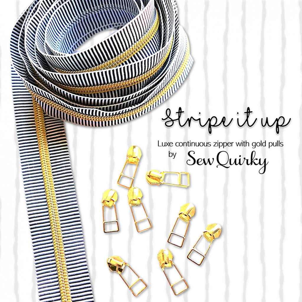 Stripe It Up Continuous Zipper by Sew Quirky