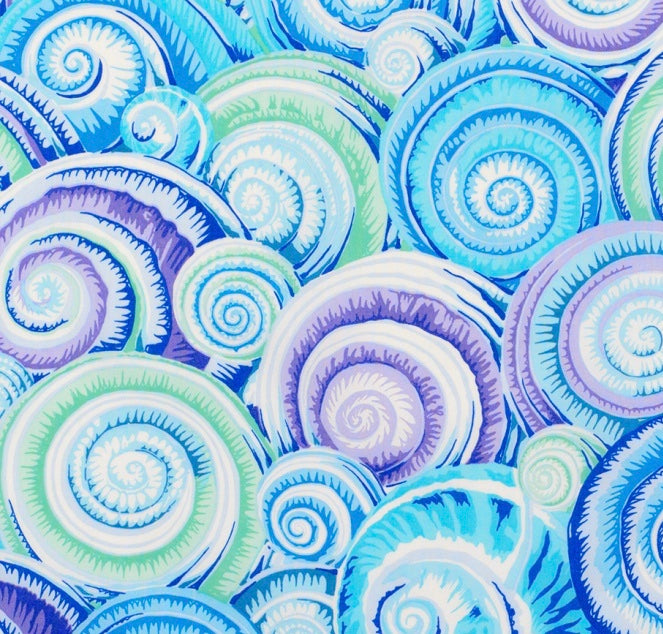 KF Collective - Spiral Shells  PWPJ073 Sky Blue