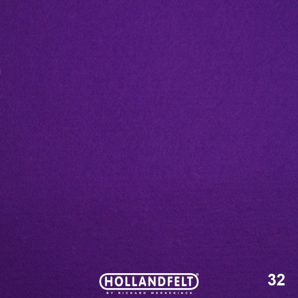 100% Wool Felt Colour 32 - Violet