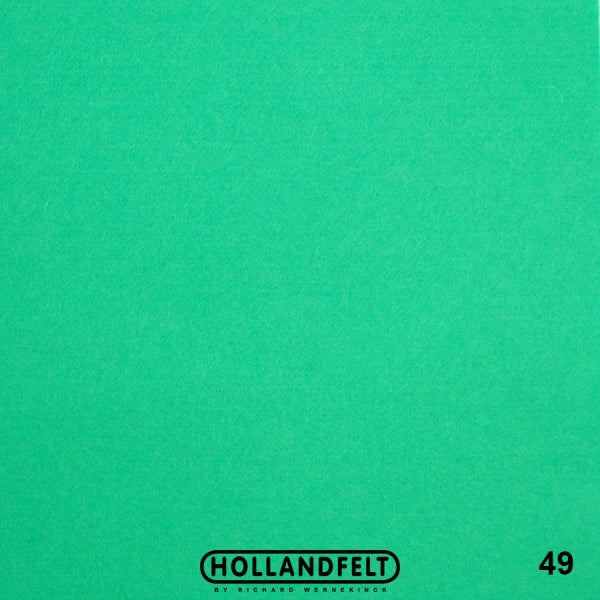100% Wool Felt Colour 49 - Emerald Green